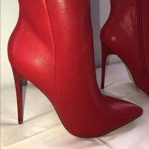 JustFab Red Stiletto Booties Size 8 NIB